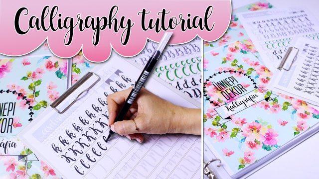Calligraphy writing Tutorial for beginners / Kalligráfia kezdőknek