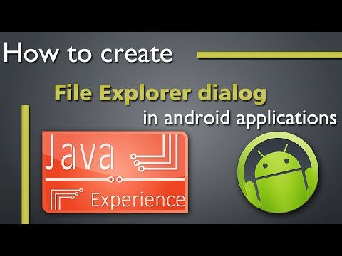 How to create File Explorer dialog in android apps