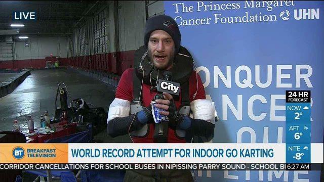 Toronto man trying to break indoor go-kart world record