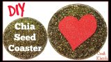 Chia Seed Coaster DIY | Another Coaster Friday | Craft Klatch | Valentine's Day