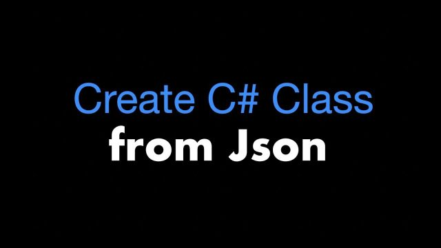 How to Create C# Class from Json using Newtonsoft.Json