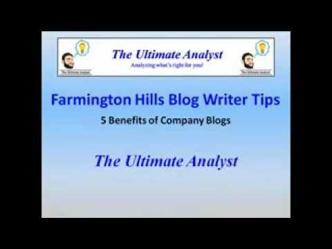 5 Benefits of Company Blogs from Farmington Hills Blog Writers – The Ultimate Analyst (248) 905-1290