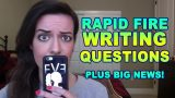 Rapid Fire Writing Questions pt 6: Betas, Love Scenes, GIVEAWAYS, etc.
