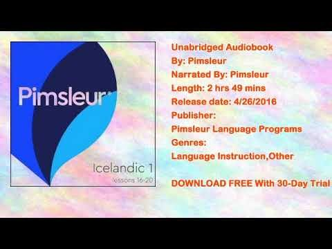 Pimsleur Icelandic Level 1 Lessons 16-20 MP3: Learn to Speak and Understand Icelandic Audiobook