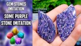 TUTORIAL! Purple Stone Imitation from polymer clay! Unique technique!
