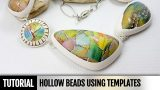 DIY! How to make Hollow beads using templates. Video Tutorial