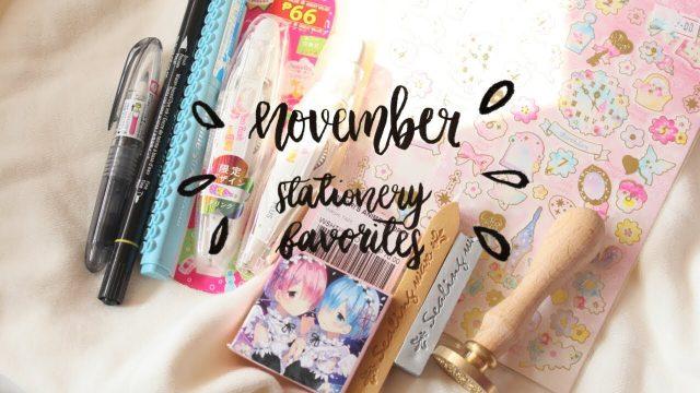 November stationery favorites [2017]    twinklgn