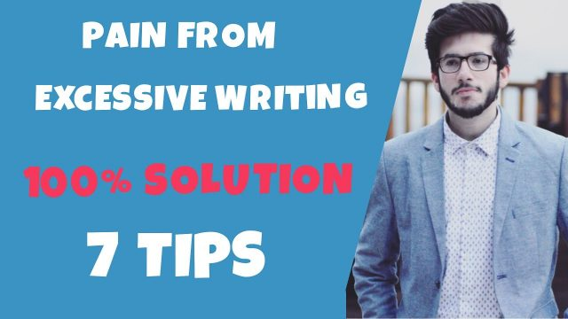 HOW TO PREVENT HAND PAIN FROM EXCESSIVE WRITING