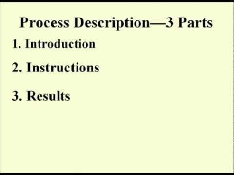 ENG 352 Technical Writing – 35 – Instructions and Process Descriptions
