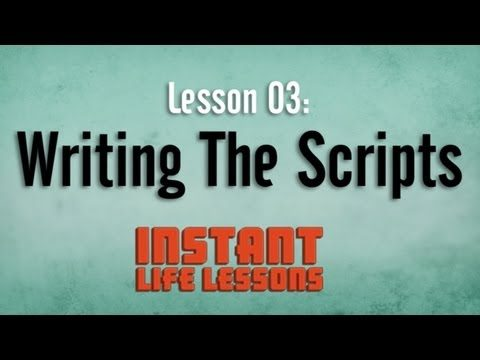 Instant Life Lessons: Behind the Scenes w/ Devin Clark – Writing the Scripts