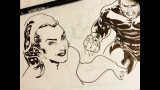Speed Drawing the Cover for I-Team #1 | Comic Book Art Inking