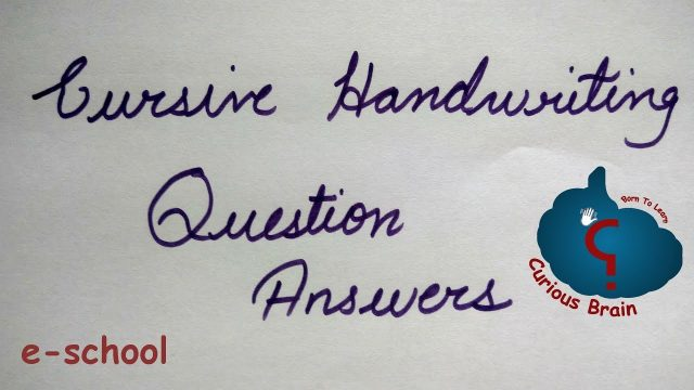 Cursive Handwriting question answers | How to join letters