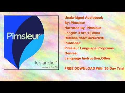 Pimsleur Icelandic Level 1 Lessons 26-30 MP3: Learn to Speak and Understand Icelandic