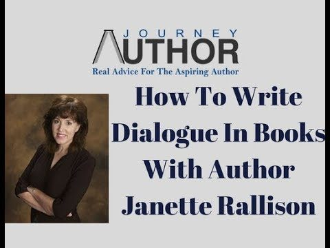 How To Write Dialogue In A Book With Author Janette Rallison
