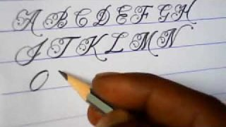 How to write english capital letters   fancy letter writing tutorials   mazic writer 2
