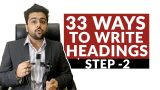 33 Ways To Write Blog Headlines | Headline Templates | Blogger Series | Hindi